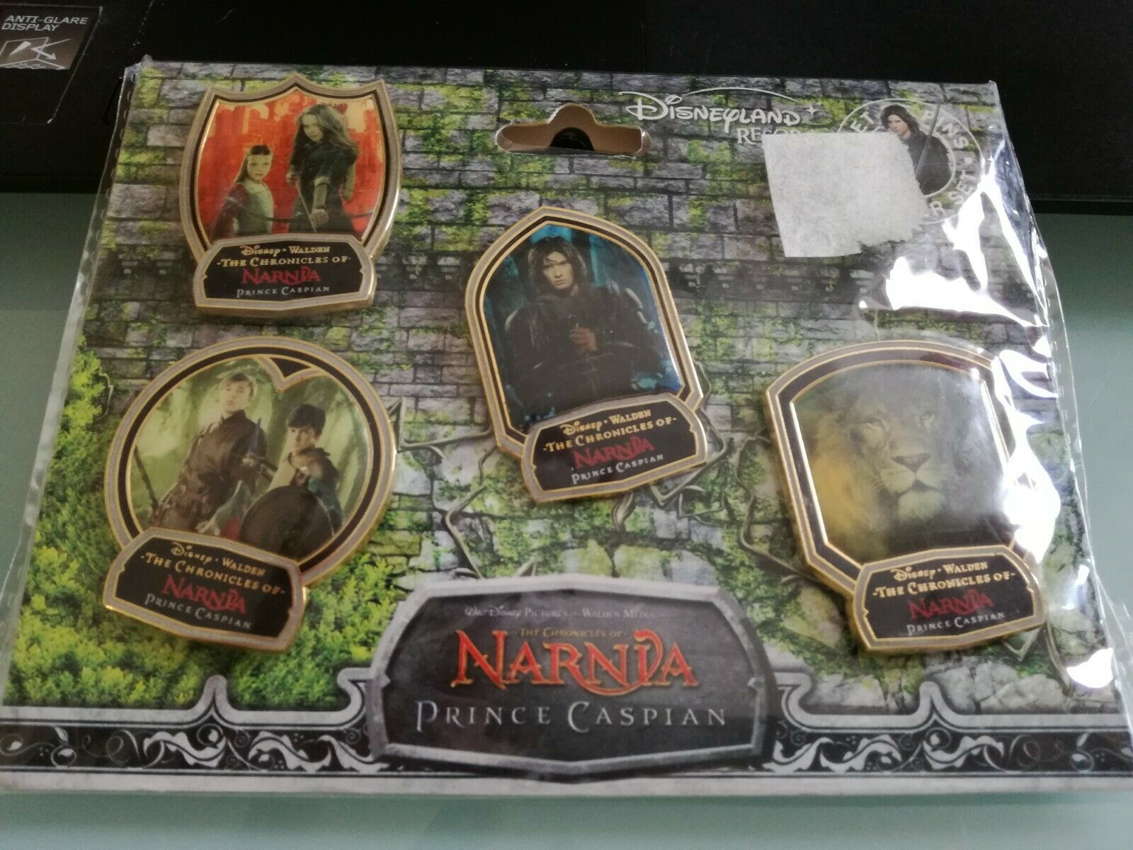 4-Pack NEW SEALED PINS THE CHRONICLES OF NARNIA PRINCE CASPIAN, Neuf DISNEYLAND