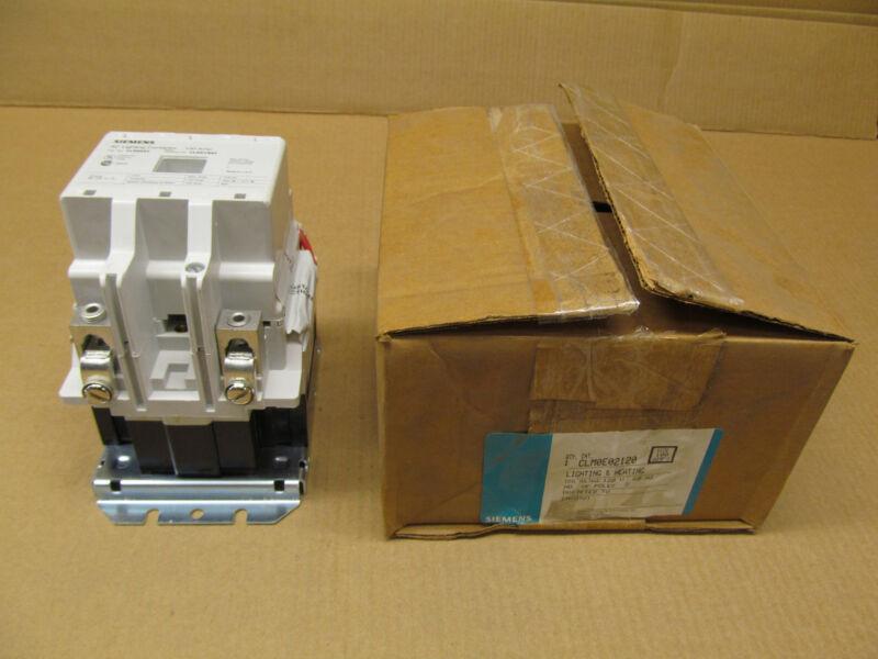 1 NIB SIEMENS CLM-0E02120 CLM0E02120 LIGHTING CONTACTOR 100 AMP 120V COIL 2 N.O.