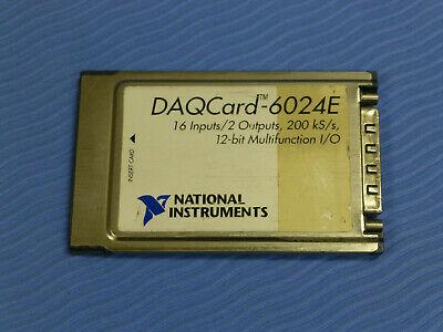 National Instruments Daqcard-6024e Ni Daq Card Pcmcia Analog Input Multifunction