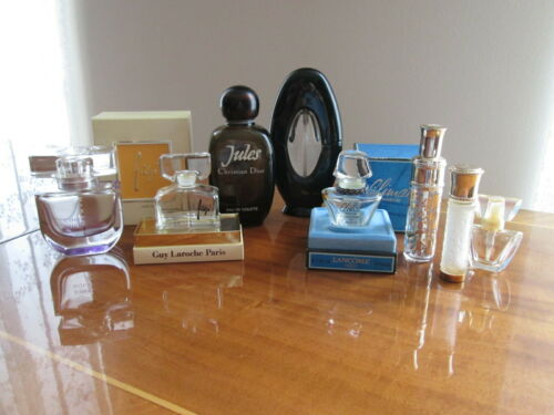 Lot of 8 France collectible empty perfume bottles