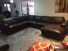 Full leather modular lounge Campbelltown Campbelltown Area Preview