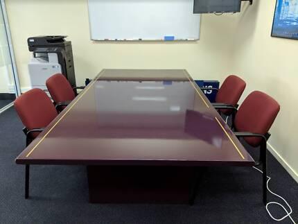 MASSIVE Boardroom Table URGENT SALE Free Delivery To Gold Coa - Large boardroom table for sale