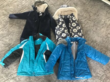 Girls size 6 coats and vest