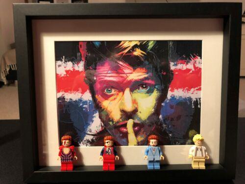 David Bowie custom minifigure frame