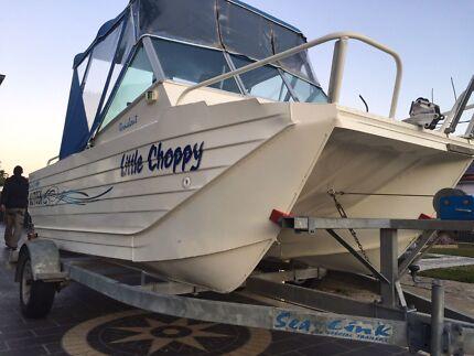 ALUMINIUM WEBSTER 4.9M TWIN FISHER South Granville Parramatta Area Preview