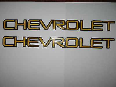 2 Chevrolet Emblems Logo Script Truck Blazer Van 1500 2500 3500 Hd Express S10 C