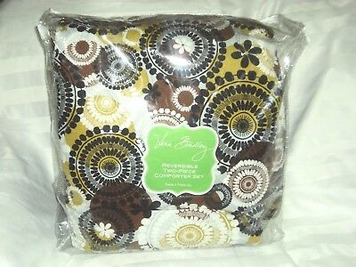 Moss Floral Comforter (Vera Bradley Reversible Comforter Set in Coco Moss Twin/Twin XL 2 pcs Floral)
