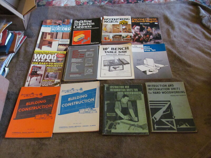 20 Fabulous Woodworking, How-to, Tool Instruction Books Of All Kinds - LOOK!!!!