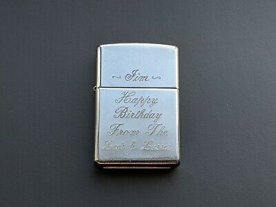 Zippo Lighter 1997 Etched Made in USA