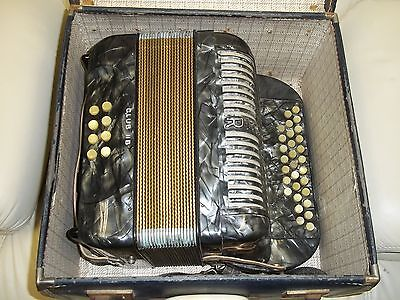 Superb Hohner Club Iib Button Accordion In Very Good Condition Original With Box