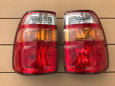 JDM 98-02 Toyota Land Cruiser 100 Genuine Taillights Tail Lights Lamps OEM