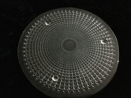 Vintage Mikasa Symphony crystal cake plates, 32cm