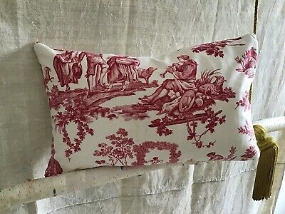 Regency Toile de Jouy Cotton Fabric Multi Use Upholstery Curtain Cushions
