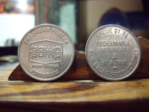 TOWN PUMP Frequent Fueler $1.00 Store Tokens - Montana  (quanitity of 2)