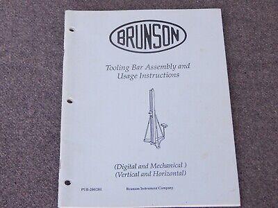 Brunson Tooling Bar Assembly And Usage Instructions Manual Ke Cubic Precision