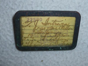 Vintage fishing license california fish game 1940 pin for Colorado fishing license fees