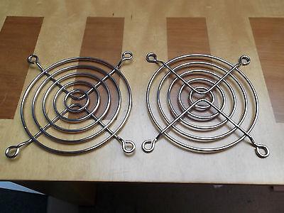Fan Guard 80mm Fans Chrome 5 Ring G80-18 Bright Steel Wire x 2pcs Offers