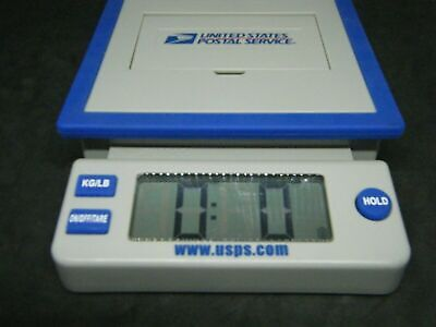 Usps Postal Service 10 Lb Digital Shipping Scale Blue Gray Works Great