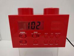 LEGO Red Portable Digital Clock AM/FM Radio W/Night Light LG11000 2009
