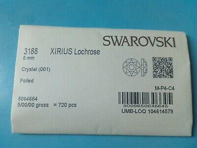 Original Swarovski factory pack Crystal 3188 Xirius Lochrose 5 mm pack 720...