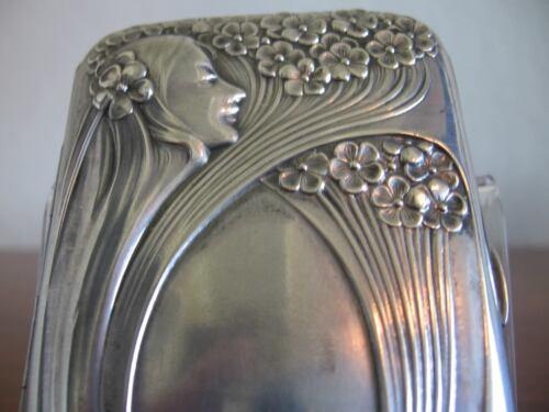 Cigarette case 800 silver art nouveau romantic beauty