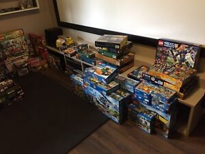 HUGE lego collection: some new, some built.