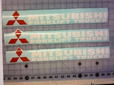 3-mitsubishi Forklift Truck Decal Sticker 17 Inches White Or Black
