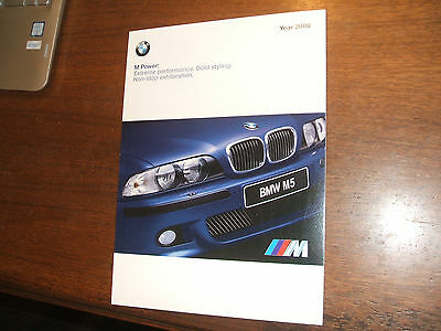 - 2000 BMW M Power Sales Brochure M3 M5 MCoupe MRoadster Z3M MZ3   47 pages