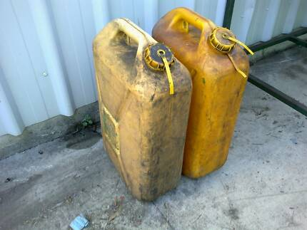 two diesel jerry cans