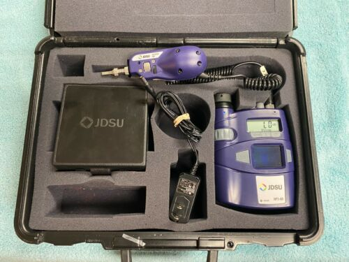 JDSU HP3-60 Fiber Microscope with Westover FBP Probe and A/C Adapter & Case