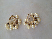 Vintage Clip on Dangle Earrings