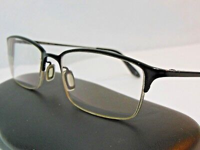 Oliver Peoples TITANIUM Faber MBK 52-18-143 Matte Black Eye Glasses Frames