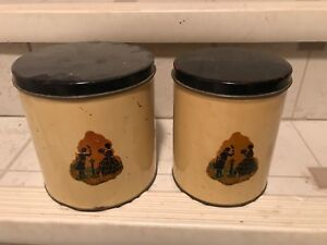2 vintage canisters