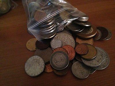 对于出售 Bulk Lot of 100 Assorted World Foreign Coins- Nice Assorted Mix!