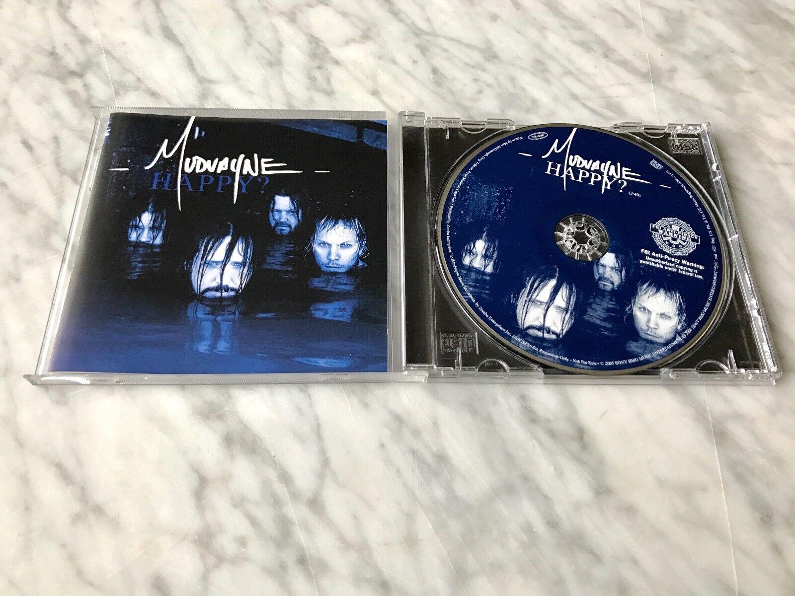 Mudvayne Happy? CD PROMO Single Original 2005 Epic Hell Yeah, Pantera Chad Gray
