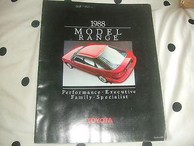Toyota Brochure 1988 Model Range - October 1988