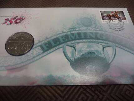 2010 Melbourne Cup 150th Anniversary PNC 50c Coin UNC Mint Cond Kahibah Lake Macquarie Area Preview