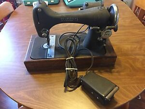 "Vintage Seamstress ""reversew"" sewing machine"