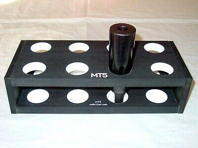 5 Morse Taper Shank Drill Bit Bench-top Storage Rack Stand Mt5 5mt Set 2axn8