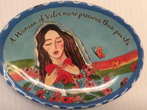 Woman of Valor more Precious than Pearls-plate/dish- Jessica Sporn-Eshet Chayil