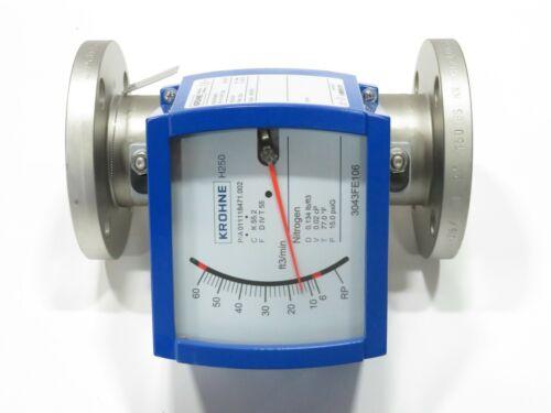 """2"""" Krohne H250/RR/M9/K2 CL150 Stainless Steel Variable Area Flowmeter K55.2 NEW"""