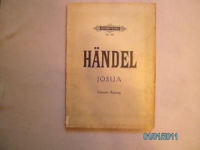 Gesang + Klavier Noten : HÄNDEL Josua - Klavierauszug