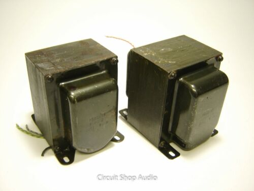 Pair of Vintage Frazier Tube Power Transformers / F-PT-2 / 6550 -- KT