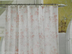 Simply Shabby Chic Shower Curtain Cottage Pink Toile Roses