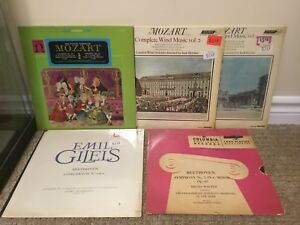 Vintage Classical musical vinyl records Beethoven & Mozart