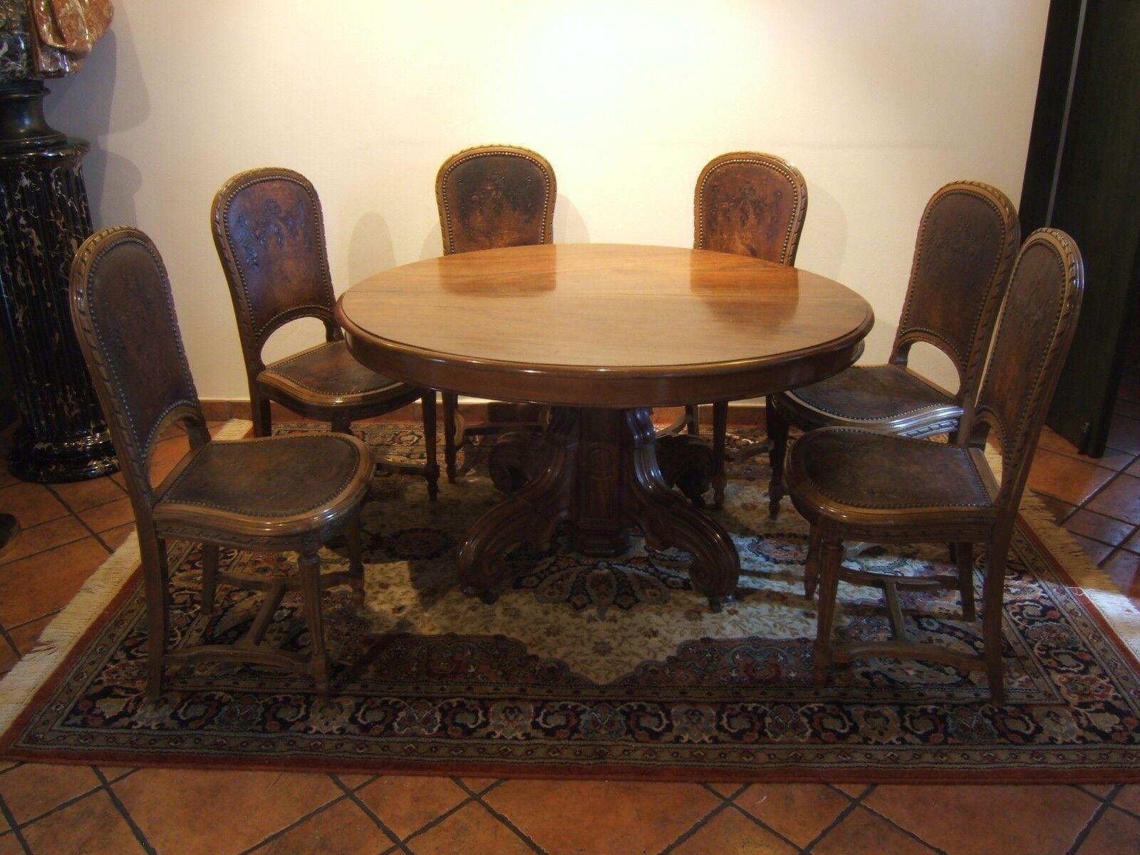 Tavolo ovale allungabile dell 39 800 con sedie rivestite in - Tavolo con sedie ...