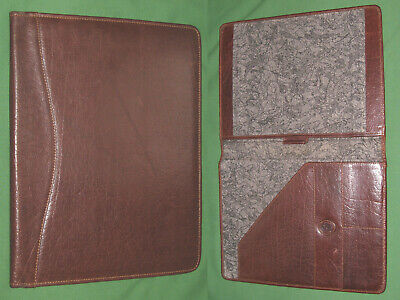 8.5x11 Note Pad Brown Leather Etruscan Designs Binder Franklin Covey Monarch