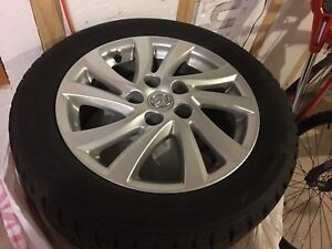 Mazda 3 alloy wheels with winter tires