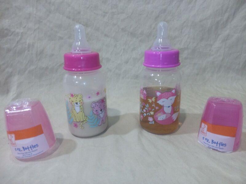 Reborn Faux Fake milk juice bottles 4oz