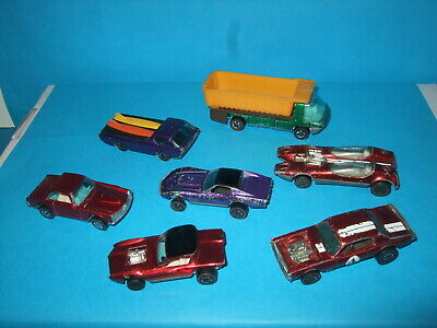 HOT WHEELS SEVEN UNBOXED RED LINE VEHICLES ,POSSIBLY SOME RARE  for sale  Shipping to Nigeria